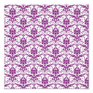 Purple Damask Pattern Photo Print