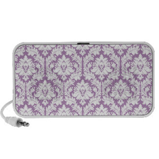 Purple Damask Pattern Notebook Speakers