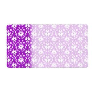 Purple Damask Pattern with White.