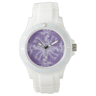 Purple Damask Vintage Floral Wristwatches
