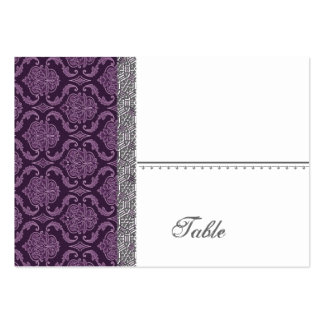 Purple Damask Wedding Set - Pack Of Chubby Business Cards