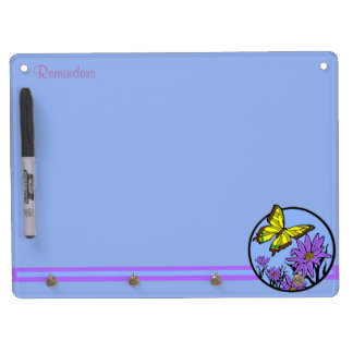 Purple Dance Dry Erase Board With Key Ring Holder