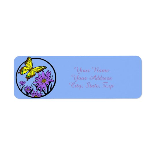 Purple Dance Return Address Label