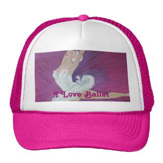 Purple Dancer I Love Ballet Mesh Hat
