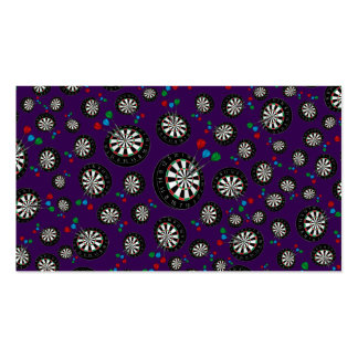 Purple dartboard pattern pack of standard business cards