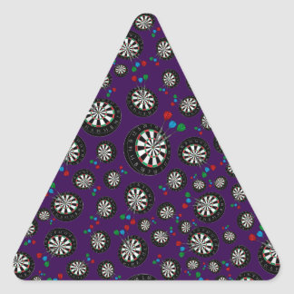 Purple dartboard pattern triangle sticker