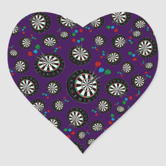 Purple dartboard pattern stickers
