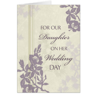 Purple Daughter Wedding Congratulations Card