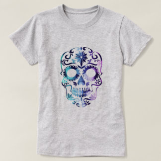 Purple Day of the Dead Candy Skull T-Shirt