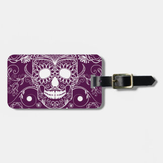 Purple Day of the Dead Tag For Bags