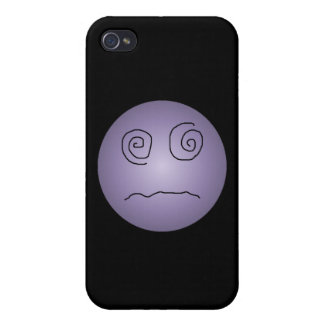 Purple Dazed and Confused Smiley iPhone 4 Covers