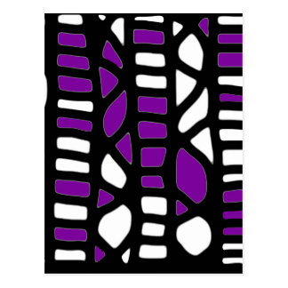 Purple decor postcard
