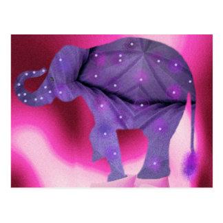Purple Decorated Elephant Postcard