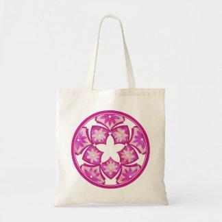 Purple Decorative Floral Tiles Bag