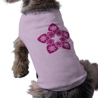 Purple Decorative Floral Tiles Pet Clothing