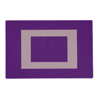 Purple deep lavender custom laminated placemats laminated placemat