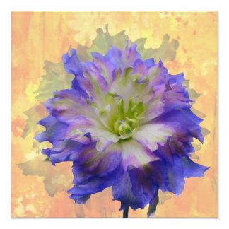 Purple Delphinium 13 Cm X 13 Cm Square Invitation Card