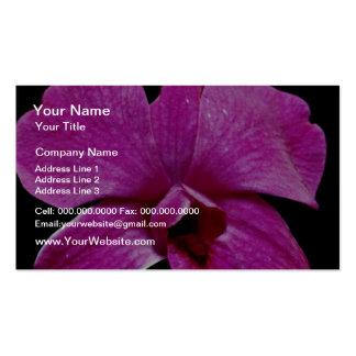 Purple dendrobium  flowers business cards