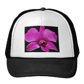 Purple dendrobium  flowers trucker hat