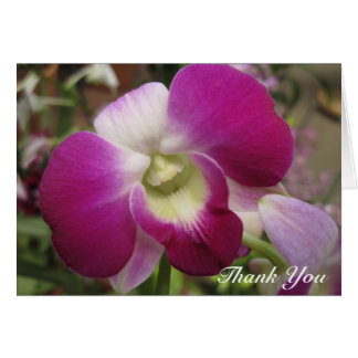 Purple Dendrobium Orchid Thank You Card
