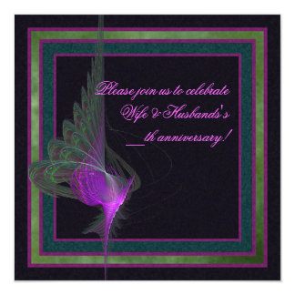 Purple Dervish Abstract Art 13 Cm X 13 Cm Square Invitation Card