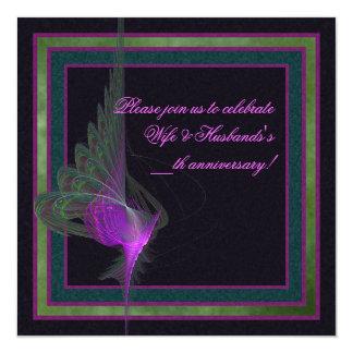 Purple Dervish Abstract Art Card