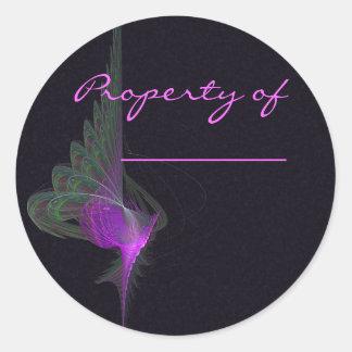 Purple Dervish Abstract Art Round Sticker