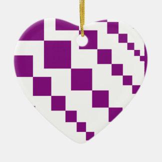 Purple Descending Diamonds Christmas Ornament