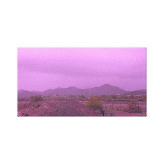 Purple Desert Canvas Print