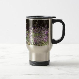 Purple Desert Flowers 15 Oz Stainless Steel Travel Mug