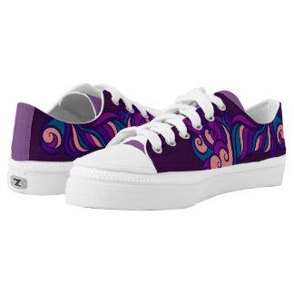Purple Design Shoes
