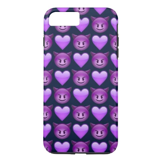 Purple Devil Emoji iPhone 7 Plus Phone Case