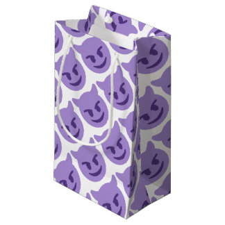 Purple Devil Emoji Small Gift Bag