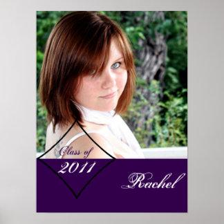 Purple Diamond Class Graduation Poster