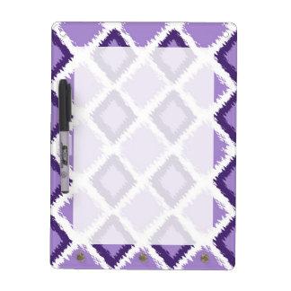 Purple Diamond Ikat Pattern Dry Erase Board