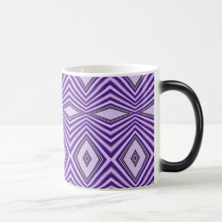 Purple Diamond Stripes Magic Mug
