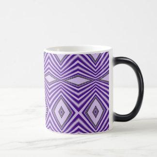Purple Diamond Stripes Morphing Mug