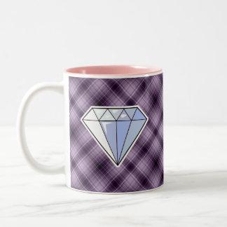 Purple Diamond Two-Tone Coffee Mug