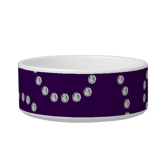 Purple diamonds swirls bowl