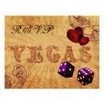 purple dice Vintage Vegas wedding rsvp Personalized Announcements