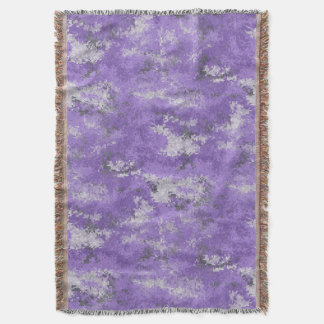 Purple Digi Camo Throw Blanket