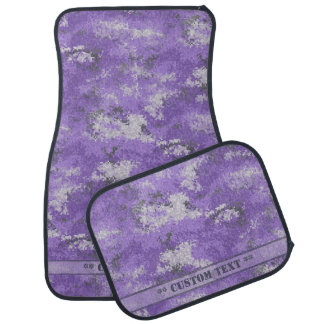 Purple Digi Camo w/ Custom Text Car Mat