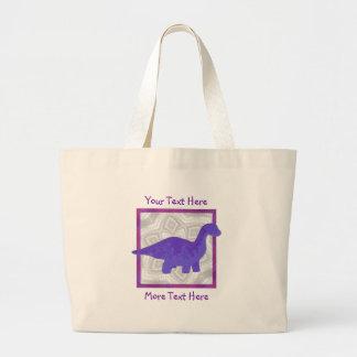 Purple Dino Tote