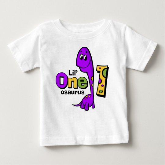 Purple Dinosaur 1st Birthday Baby T-Shirt