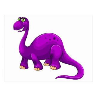 Purple dinosaur standing alone postcard