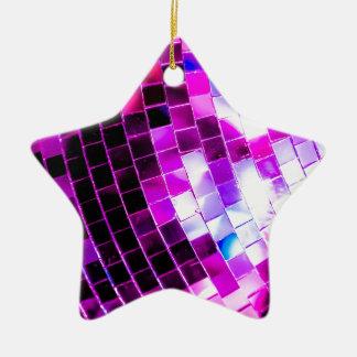 Purple Disco Ball Ceramic Star Decoration