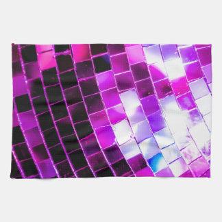 Purple Disco Ball Tea Towel