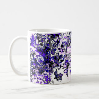 Purple Distortion Floral Classic Mug