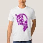 Purple Distressed Peace Symbol/ Paint Splatter Shirt