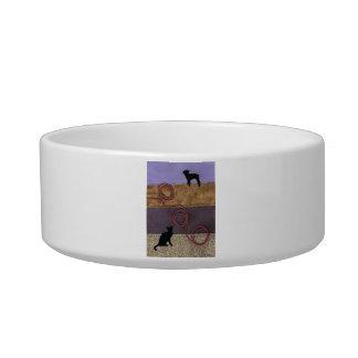 Purple Dog and Cat Fun Bowl